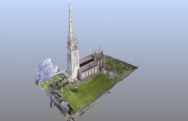 Laser scanning the Marble Church in High Definition