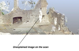 Ghost Shadow revealed during Laser Scan of Ancient Ruins in North Wales
